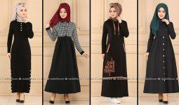 ModaSelvim Siyah Tesettür Elbiseler 2 (2021 Sonbahar) | Fall Outfits - Wedding Dresses - Plus Size