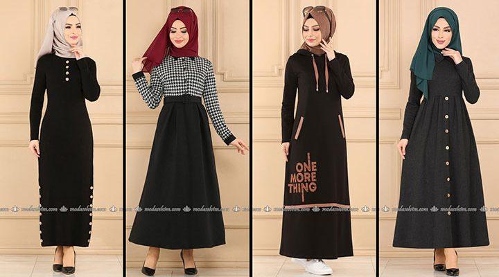 ModaSelvim Siyah Tesettür Elbiseler 2 (2021 Sonbahar)   Fall Outfits - Wedding Dresses - Plus Size