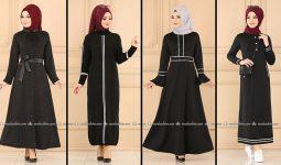 ModaSelvim Siyah Tesettür Elbiseler 3 (2021 Sonbahar) | Fall Outfits - Wedding Dresses - Plus Size