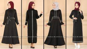ModaSelvim Siyah Tesettür Elbiseler 3 (2021 Sonbahar)   Fall Outfits - Wedding Dresses - Plus Size