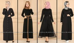 ModaSelvim Siyah Tesettür Elbiseler 4 (2021 Sonbahar) | Fall Outfits - Wedding Dresses - Plus Size