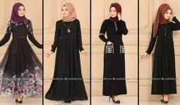 ModaSelvim Siyah Tesettür Elbiseler 1 (2021 Sonbahar) | Fall Outfits - Wedding Dresses - Plus Size