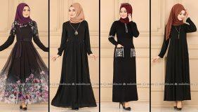 ModaSelvim Siyah Tesettür Elbiseler 1 (2021 Sonbahar)   Fall Outfits - Wedding Dresses - Plus Size