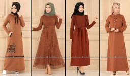 ModaSelvim Taba Tesettür Elbiseler 2 (2021 Sonbahar) | Fall Outfits - Wedding Dresses - Plus Size