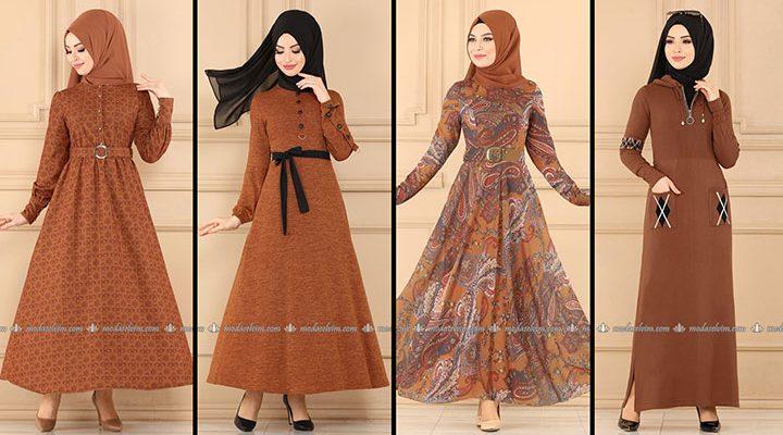 ModaSelvim Taba Tesettür Elbiseler 1 (2021 Sonbahar)   Fall Outfits - Wedding Dresses - Plus Size