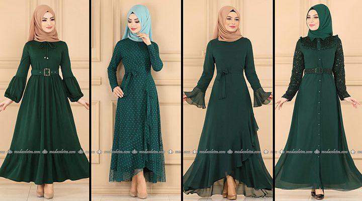 ModaSelvim Zümrüt Tesettür Elbiseler (2021 Sonbahar) | Fall Outfits - Wedding Dresses - Plus Size