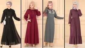 2021 Sonbahar ModaSelvim Günlük Tesettür Elbise Modelleri 2   Fall Outfits