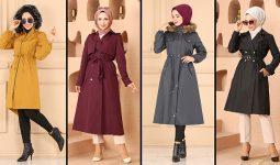 2022 Kış Modaselvim Tesettür Trençkot Modelleri 2   Women's Trench Coats - Women Trench Coat Models